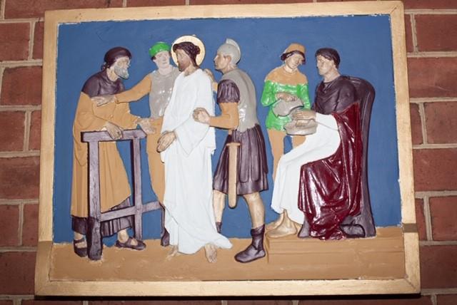 1. Jesus is condemned to die.